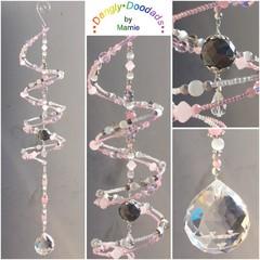 SALE!  Glass Spiral Suncatchers - various