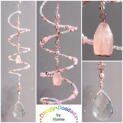 SALE!  Semiprecious Stone Spiral Suncatchers - various