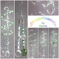 SALE! Glass & Stone Spiral Suncatchers - various