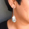 Light Face Drop Earrings (silver & gold)