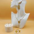 Luxor Iris Drop Earrings   Handmade Statement Jewelry   Unique Accessories