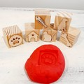 Wooden Dough Imprint Blocks - DOGS & CATS Set