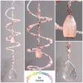 SALE!  Semiprecious Stone Spiral Suncatchers - various