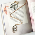 Shadow & Light Long Necklace With a Beautiful Message (gold)