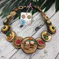 Gumnut Babies - Natural Button Jewellery - Earrings - Necklace