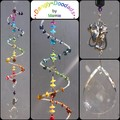 SALE! Glass & Stone Spiral Suncatchers - various