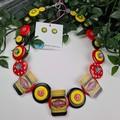 Happy little Vegemite - Button Jewellery - Earrings - Necklace