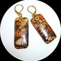 Sea Sediment Jasper Gold Copper Bornite earrings. FREE SHIPPING