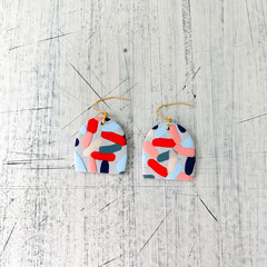 Statement earrings in polymer clay, jelly beans