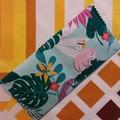 Handy Tea Bag Wallet- Tropical sloth/bird print