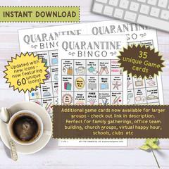 Quarantine Bingo Printable Party Game | Celebrate End of Lockdown Activity