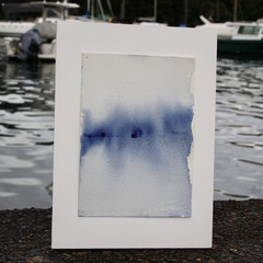 Sea Sight - Watercolour painting on cotton paper