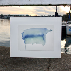 Blue Rigi Series 3 #17 - Watercolour painting on cotton paper