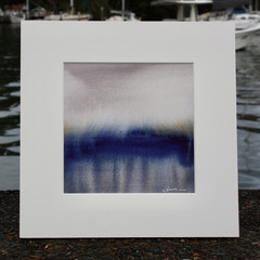 Blue Rigi Series 3 #38 - Watercolour painting on cotton paper