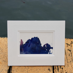 Sea Dragon - Watercolour abstract landscape painting on cotton paper