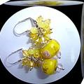 Handmade glass bead earrings. FREE SHIPPING