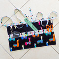 Teacher preschool vendor utility half apron - 6 pockets - Llamas