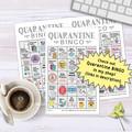 Quarantine New Year Bingo printable party game | Celebrate 2021 End of 2020