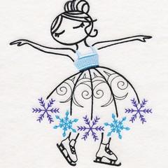 Embroidered Quilt Blocks. Beautiful Ballerina Motifs. Top Quality.