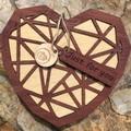 3D Wooden 3D Heart Box # 1. Jarrah Top. FREE Shipping
