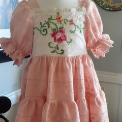 Stunning embroidered tiered  dress size 2