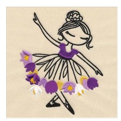 Embroidered Quilt Blocks. Ballerina designs. Top Quality.