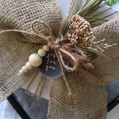 Set of 4 Wood Bead Decorations/Embellishments