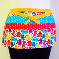 Preschool teacher utility daycare lined apron - 6 pockets - Cats