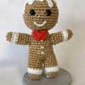 Sequined Gingerbread Man, amigurumi model