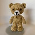 Sequinned Teddy Bear with bling, Amigurumi model