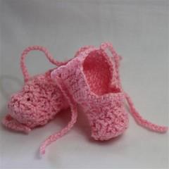 Ballet booties, size 0 (7.5cm)