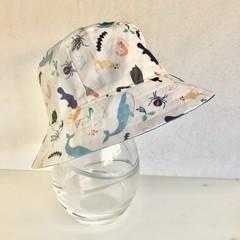 Boys summer hat in Aussie animals fabric