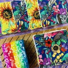 Florals & sunflowers 10 pack face scrubbies