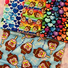 Rainbow ice creams 4 pack kitchen cloths unpaper towels