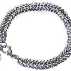 Chain Maille Half Box Weave Stainless Steel