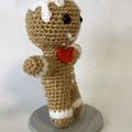 Sequined Gingerbread Man, amigurumi model