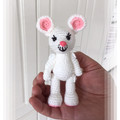 White Mouse with Pink Ears, amigurumi model