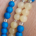 Set of 3 stretch, gemstone & glass beaded bracelets -   available individually