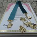 Bookmark Luxury Velvet - Teal with Gold Leaf Tassel perfect Teachers Gift