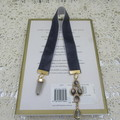 Bookmark Luxury Velvet - Charcoal with Iridescent Charms - Perfect Gift