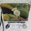 Women's Wristlet/Cosmetic/Jewelery Pouch - Japanese Floral