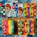 Rainbow ice creams 10 pack face scrubbies