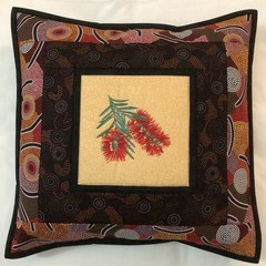 Australiana cushion cover - BOTTLEBRUSH