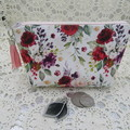 Women's Ladies Girls Clutch Purse Cosmetic Jewelry Pouch - Boho Floral
