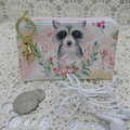 Coin Purse - Women's/Girls for Coins, Cards,Jewellery etc - Raccoon Floral
