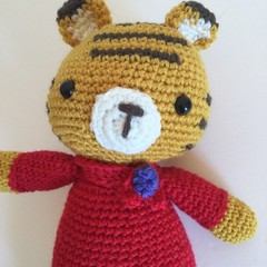 Tiger  -  crocheted, knitted, softies