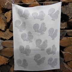 "Block printed 100% European Flax Linen Tea towel | ""Oh how Country""!"