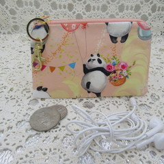 Coin Purse - Women's/Girls for Coins, Cards,Jewellery etc - Panda