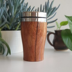 Wooden travel cup, Wooden coffee mug, Keep cup, Gift for her, Gift for him,