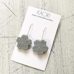 Polymer clay earrings, Sakura cherry blossom floral